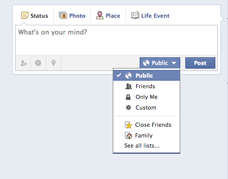 your facebook posts are public